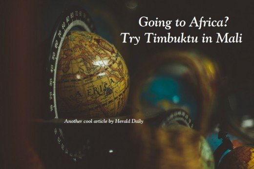Yup, Timbuktu is a real place in Mali, Africa. It's steeped in rich history and is one of the most unique places you'll find anywhere