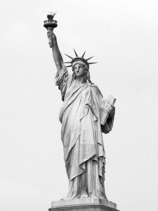 """Give me your tired, your poor, your huddled masses yearning to breathe free, the wretched refuse of your teeming shore. Send these, the homeless, tempest-tossed to me, I lift my lamp beside the golden door!"""