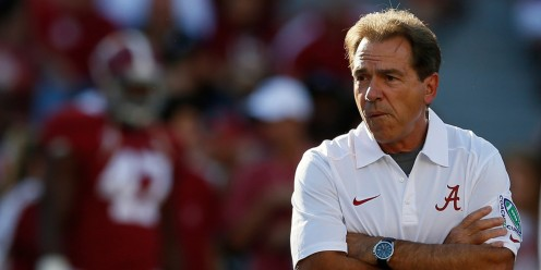 "Nick Saban, head coach, University of Alabama, one National Championship shy of the fabled Paul ""Bear"" Bryant, the man who built the Bama Football Program."