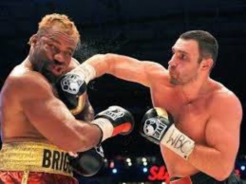 Vitali Klitschko won all 12 rounds easily as he pounded the brave Shannon Briggs with every shot in the book.