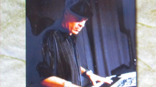 Tazz, gets down on keyboards during a performance. This photo is from their website as well.