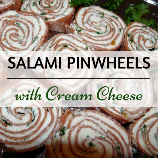 A delicious and easy recipe for Salami Pinwheels with Cream Cheese.