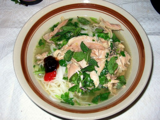 Delicious Chicken Pho Soup is easy to make at home with a homemade chicken stock and mixed fresh herbs and spices. See this great recipe.