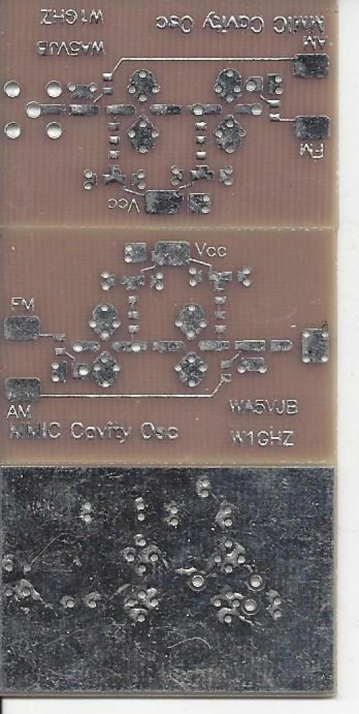 1GZ MMIC oscillators front and back