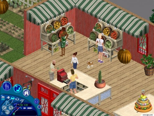 The Sims (released in 2000) was the first 3D life simulation game of its kind.