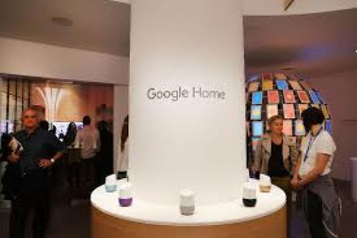 Google Homes On Display at a Store