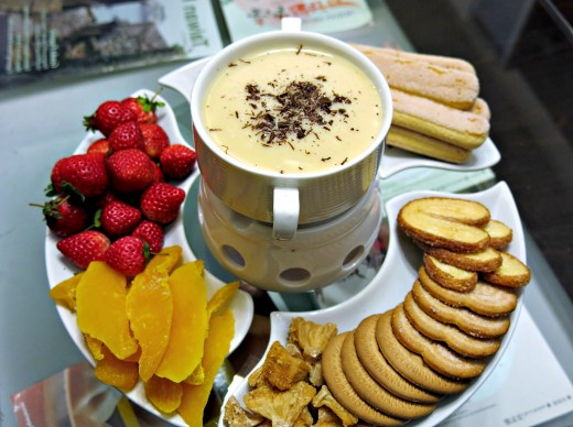 White chocolate makes a fabulous base for dessert fondue