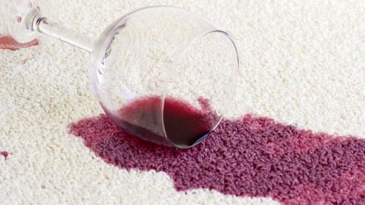 Wine stains are the most common reason for needing a carpet cleaner.