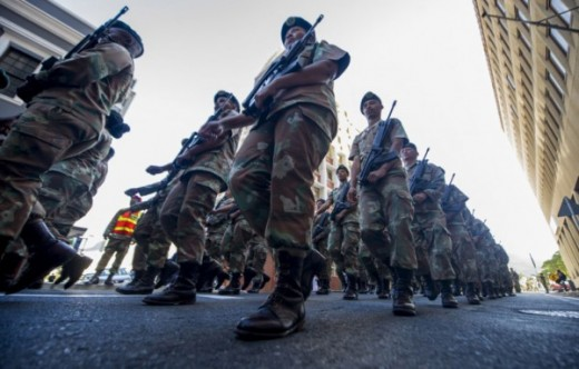 South African Defence Force (SANDF) at (SONA) on February 08, 2017, Cape Town  South Africa. Photo: Beeld / Jaco Marais
