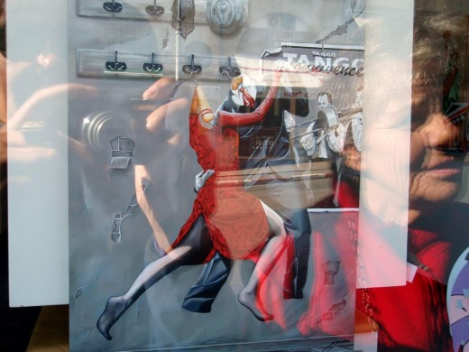 Smithfield Street - Pittsburgh - 2010 - Fuzzy reflection off a store window