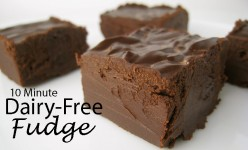 Ten Minute Dairy-Free Fudge