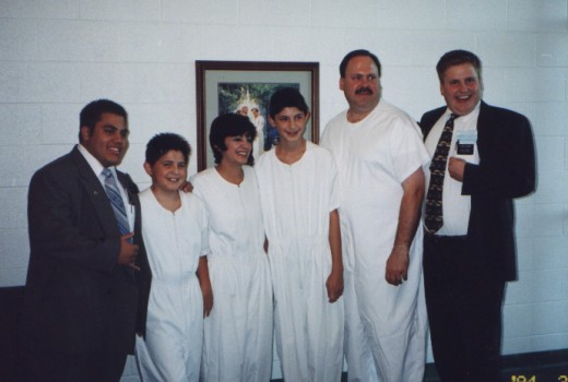 Family after getting baptized.  Family photo