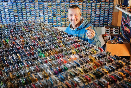 A huge collection of toy cars is not a winning hobby.