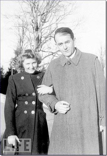 Eva Braun Hitler's future wife posing with Hitler's Armaments Minister Albert Speer
