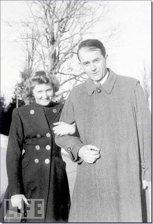 Eva Braun Hitler's future wife posing with Hitler's Armaments Minister Albert Speer