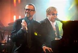 Elton with George Michael