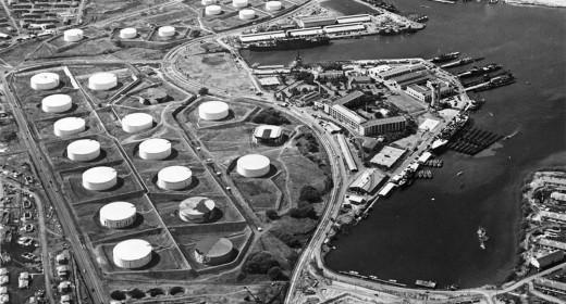 Oil tanks at Pearl