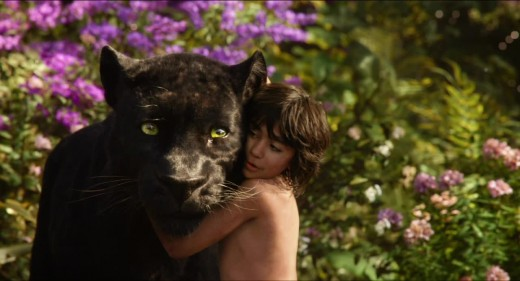 Bagheera and Mowgli