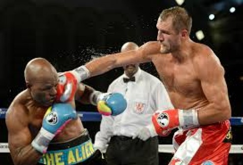 Sergey Kovalev (right) dominated Bernard Hopkins and won a shut out, 12 round decision in defense of the light heavyweight title.