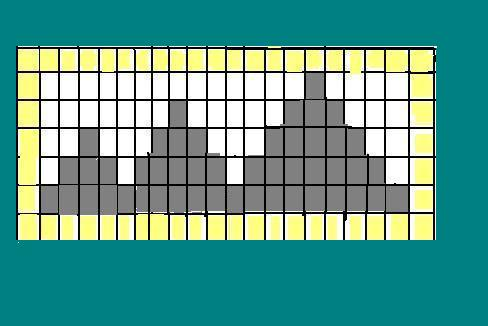 21 vertical rows or pins. 7 horizontal rows.