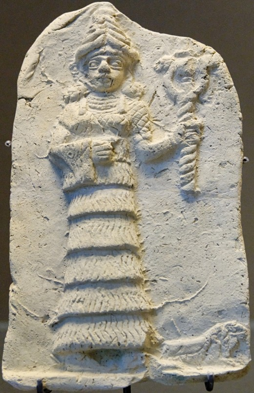 One of the first images of the goddess Ishtar found