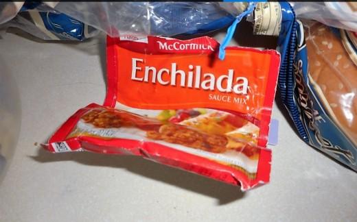 enchilada or taco seasoning in hamburger