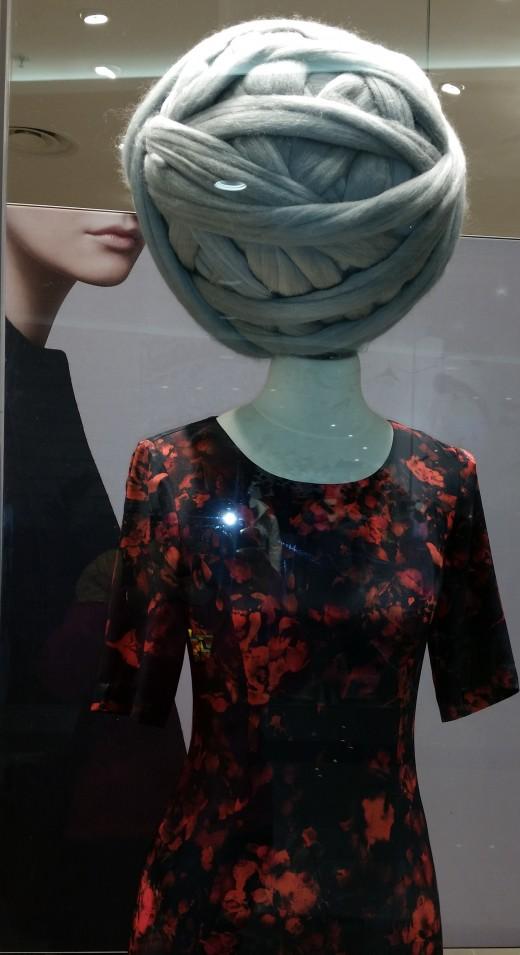 Mannequin in local shop window