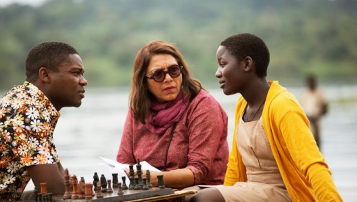 Chess anyone? Queen of Katwe director Mira Nair (in the middle).  Movie is about chess and family.