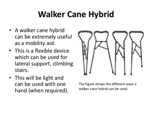 Details on hybrid crutches