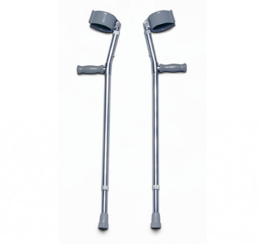 Classic forearm crutches with vinyl handgrips