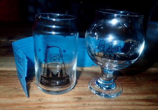 Brewstillery glasses and tickets