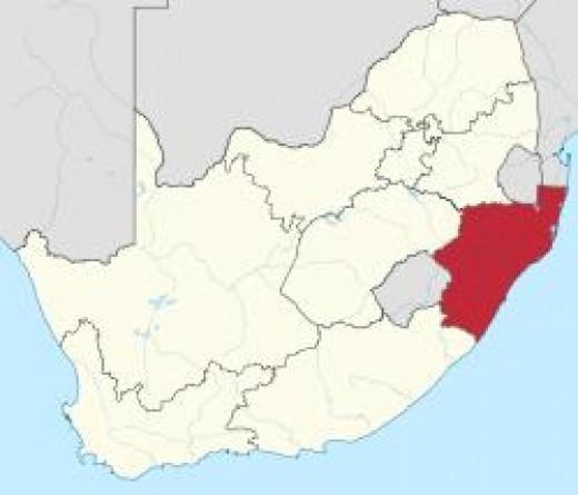 Kwazulu-Natal - the red part