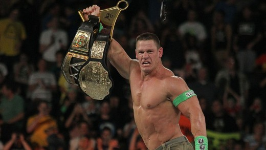 John Cena's 15th world title win in 9 years.