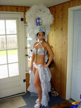 BRAZILIAN DANCER IN EAGLE COSTUME
