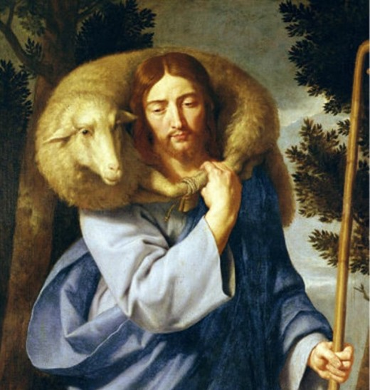 Good shepherd 17th century Public Domain Image Plus 100 years after author's life.
