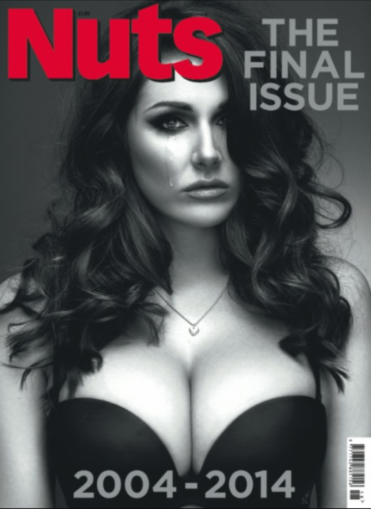 The final issue of Nuts magazine. Featuring model Lucy Pinder.