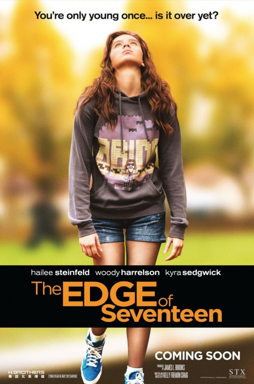 The poster for The Edge of Seventeen.