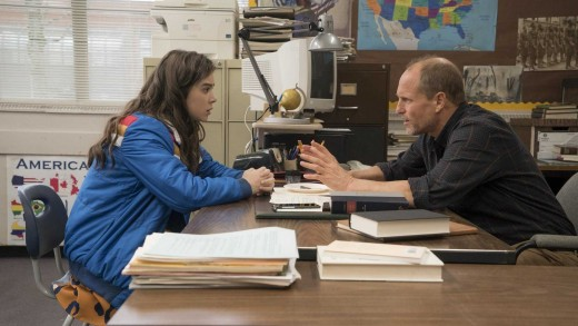 Nadine (Hailee Steinfeld) and Mr. Bruner (Woody Harrelson)