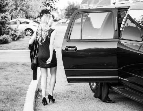 High school kids these days always rent a fancy limo to carry them to and from their proms. (a poem there).