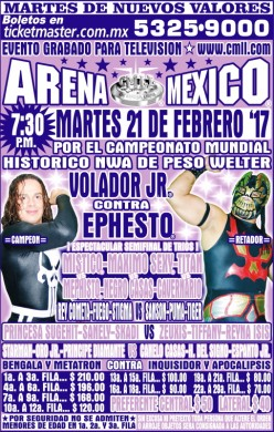 CMLL Tuesday Preview: Ephesto. Ephesto Everywhere.