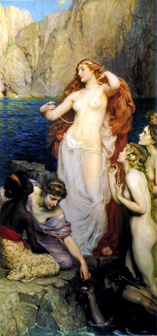 Aphrodite was a beautiful and flirtatious goddess in touch with her own body and sensuality.