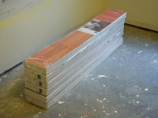 Keep the laminate flooring boxes in the room for 48 hours before installation.