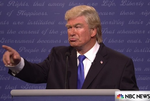Alec Baldwin as Trump on Saturday Night Live