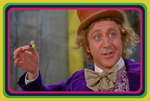 Willy Wonka is showing what he calls his greatest invention The Everlasting Gobstopper