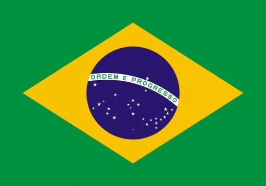 "FLAG OF BRAZIL CARRIES MOTTO ""ORDER AND PROGRESS"""
