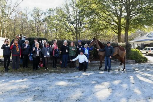 Guests enjoying a morning at the Blue Barn.