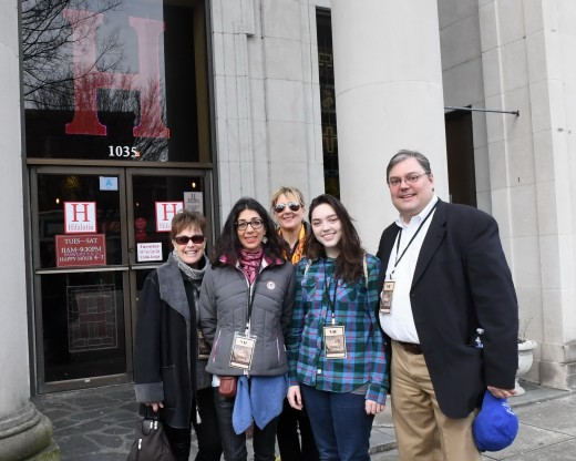 Hifalutin with Lisa Diersen, Janice Fischer with Doug Maddox and daughter Elizabeth was part of the Tapas Walk.