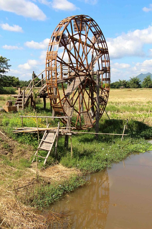 A waterwheel at the Tai Dam Cultural Museum in Loei Province