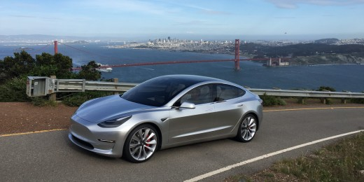 New Tesla model 3.
