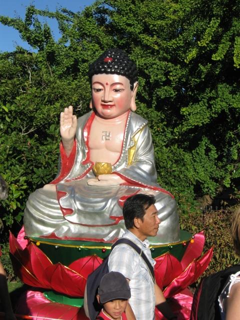 Buddha Lantern in Chinese Lantern Festival in Auckland